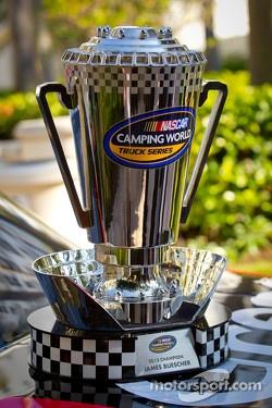 NASCAR Camping World Truck Series trophy for James Buescher, Turner Motorsports