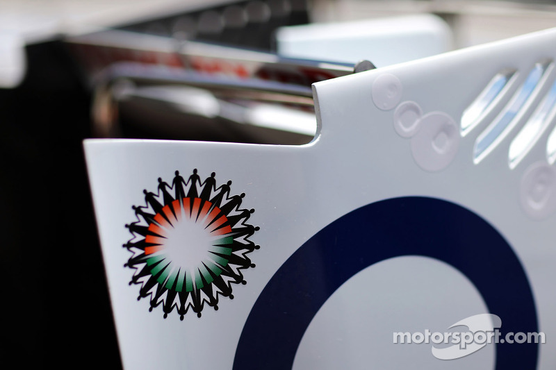 Sahara Force India F1 VJM05 rear wing detail
