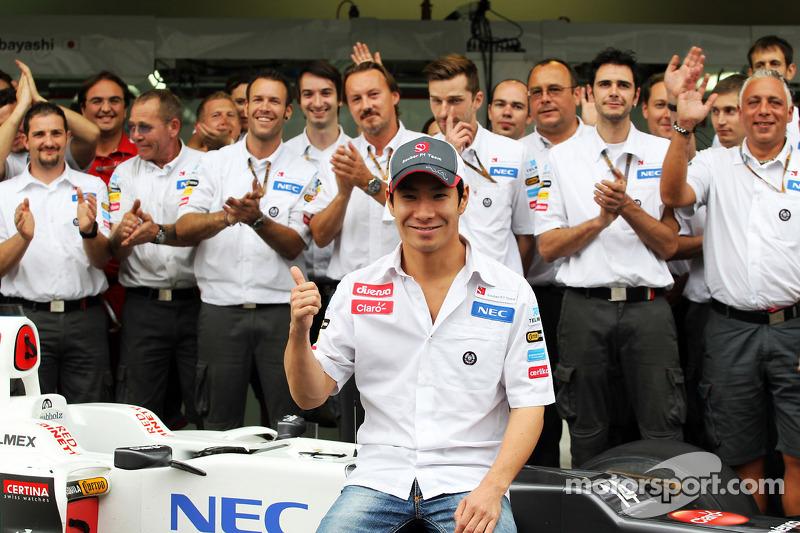 Kamui Kobayashi, Sauber teamfoto