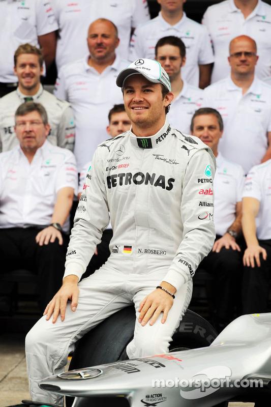 Nico Rosberg, Mercedes AMG F1 teamfoto
