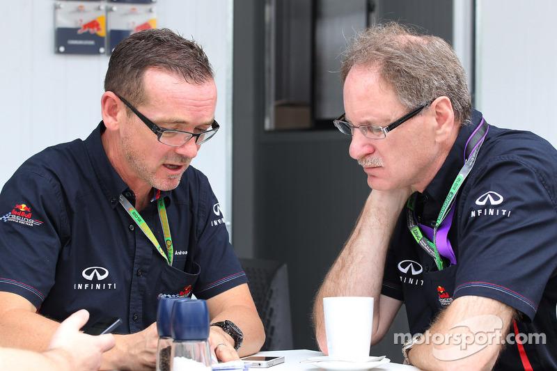 Members of the Red Bull team