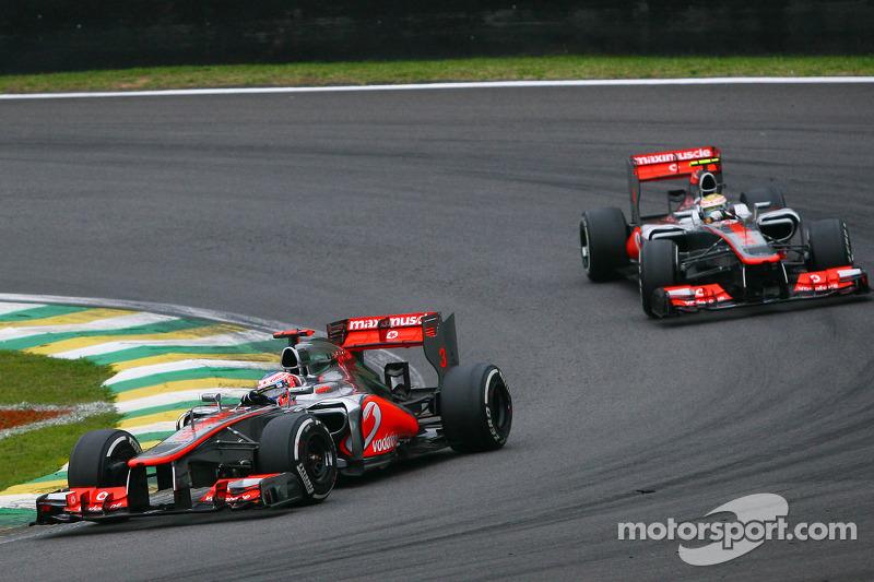 Дженсон Баттон. ГП Бразилии, Воскресная гонка.