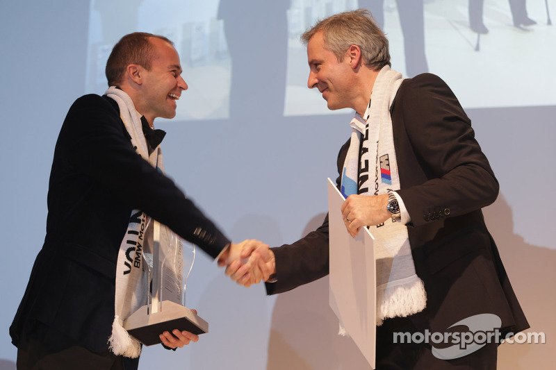 Top privateer Thomas Biagi and head of BMW Sport Jens Marquardt