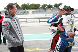 Michael Schumacher, Keith Flint and Randy Mamola
