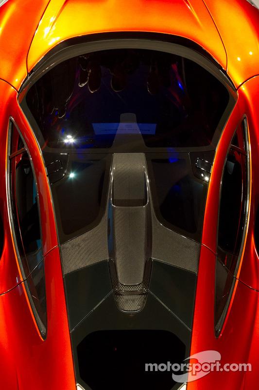 The McLaren P1 bodywork detail