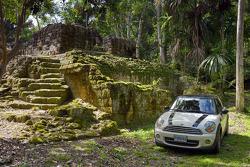 The MINI Cooper visits Mayan ruins in Tikal, Guatemala