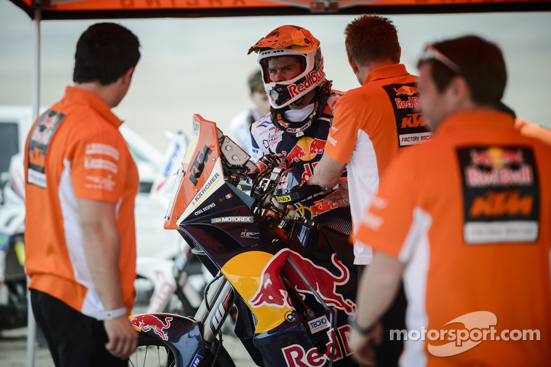 #1 KTM: Cyril Despres tests near Lima, Peru