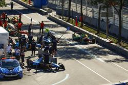 Lucas di Grassi, ABT Schaeffler Audi Sport, makes a pit stop