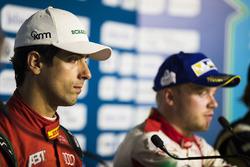 Lucas di Grassi, ABT Schaeffler Audi Sport, Felix Rosenqvist, Mahindra Racing, en la conferencia de prensa