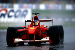 Podium: Race winner Rubens Barrichello, Ferrari F1 2000, second place Mika Hakkinen,  Mclaren  MP4-15, David Coulthard, Mclaren MP4-15