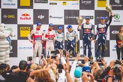 Podio: al terzo posto Sébastien Ogier, Julien Ingrassia, Ford Fiesta WRC, M-Sport