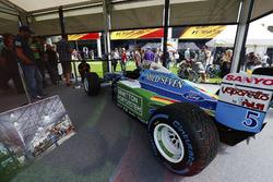 A 1994 Michael Schumacher Benetton Ford on display