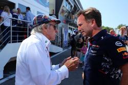 Jackie Stewart, Christian Horner, Red Bull Racing Team Principal