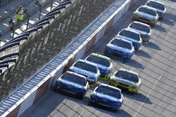 Дэвид Рейган, Front Row Motorsports Ford и Тревор Бейн, Roush Fenway Racing Ford