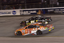 Daniel Suárez, Joe Gibbs Racing Toyota, Derrike Cope, Premium Motorsports Toyota