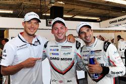 Polesitters Neel Jani, Andre Lotterer, Nick Tandy, Team Porsche