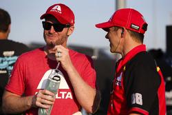 Dale Earnhardt Jr., Hendrick Motorsports Chevrolet and crewman