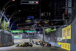 Nico Hulkenberg, Renault Sport F1 Team RS17, Sergio Perez, Sahara Force India F1 VJM10, Jolyon Palmer, Renault Sport F1 Team RS17, Lance Stroll, Williams FW40 y Stoffel Vandoorne, McLaren MCL32