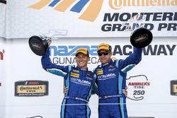 Winners Renger van der Zande, Marc Goossens, Visit Florida Racing