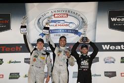 PC winnaars Garett Grist, Tomy Drissi, John Falb, BAR1 Motorsports