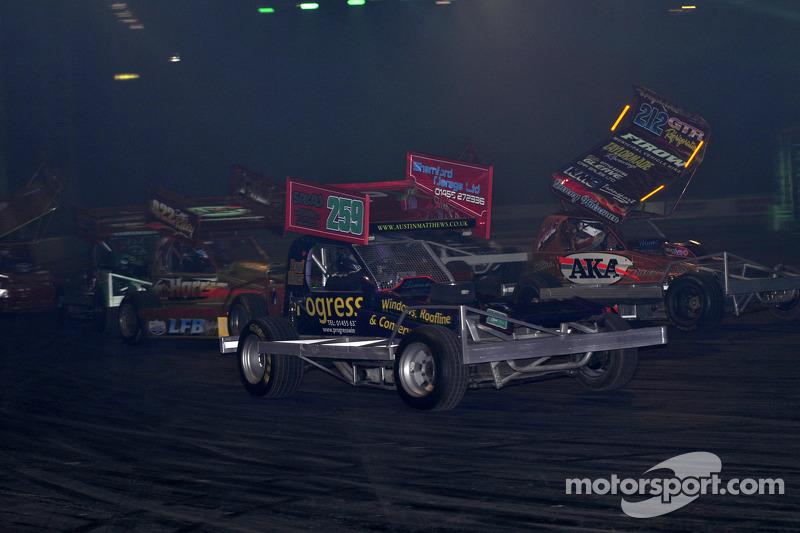 BRISCA F1 Stock car in de live action arena