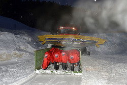 Ducati bikes are delivered in the snow