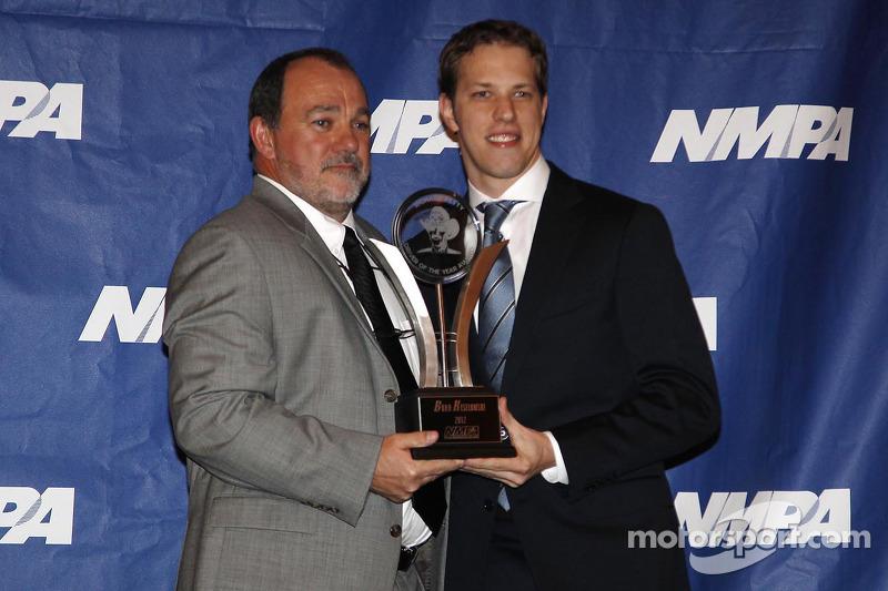 Brad Keselowski, Penske Racing Ford bij de National Motorsports Press Association awards ceremony