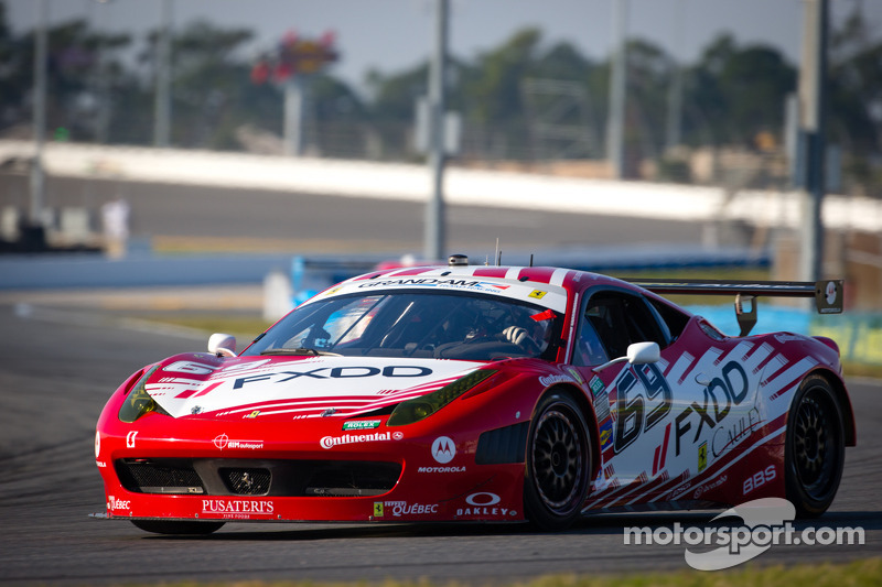 #69 AIM Autosport Team FXDD met Ferrari Ferrari 458: Emil Assentato, Anthony Lazzaro, Nick Longhi, Mark Wilkins