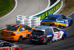 #56 RACE EPIC/ Murillo Racing BMW 328i: Jesse Combs, Jeff Mosing, #30 i-MOTO Mazda Speed 3: Ryan Ellis, Mat Pombo, #81 BimmerWorld Racing BMW 328i: Tyler Cooke, Gregory Liefooghe