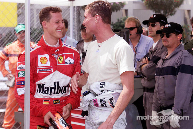 Polesitter Michael Schumacher, third place David Coulthard