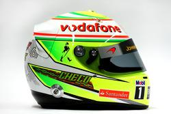 The helmet of Sergio Perez, McLaren
