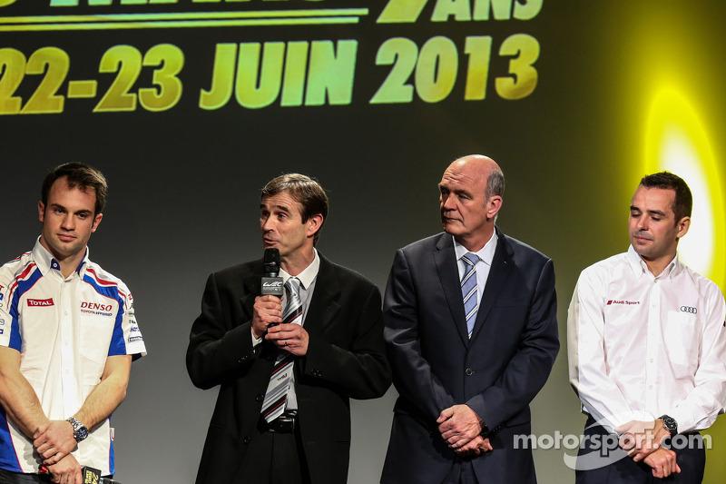 Benoit Tréluyer, Nicolas Lapierre, Pascal Vasselon, Toyota Racing, and Wolfgang Ullrich, Audi Motorsport