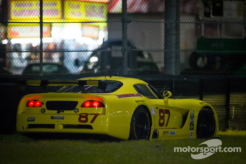 #87 Vehicle Technologies Dodge Viper: Tony Ave, Jan Heylen, Doug Peterson in de problemen