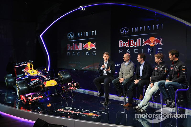 Марк Уэббер и Себастьян Феттель. Презентация Red Bull Racing RB9, Презентация.