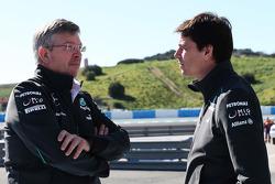 Ross Brawn, Mercedes AMG F1 Team Principal con Toto Wolff, Mercedes AMG F1 accionista y director eje