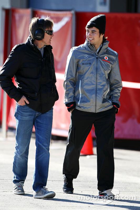 Sergio Perez, McLaren com Adrian Fernandez