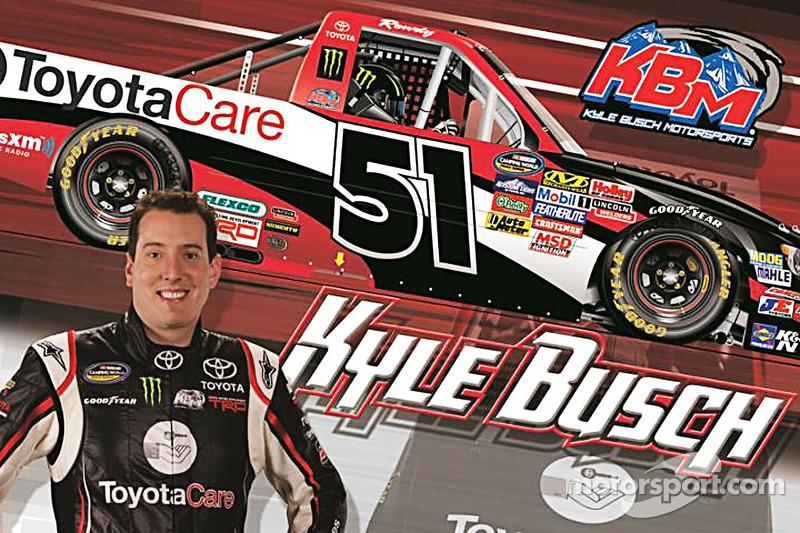 Kyle Busch Com A Tinta Regime Toyota Care