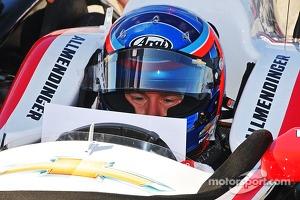 A.J. Allmendinger test the Penske Racing Chevrolet