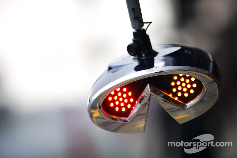 Red Bull Racing pit stop light system