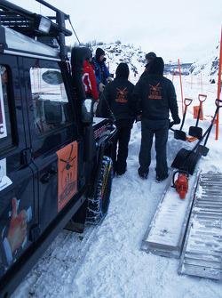 Preparations para o start no Arctic
