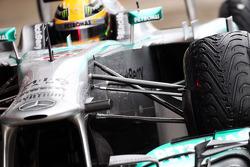 Suspensión delantera del Mercedes AMG F1 W04