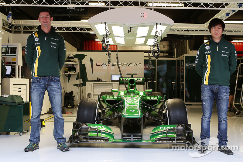 Alexander Rossi and Ma Qing Hua, Caterham F1 reserve driver announcement