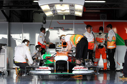 Sahara Force India F1 VJM06 in the pits