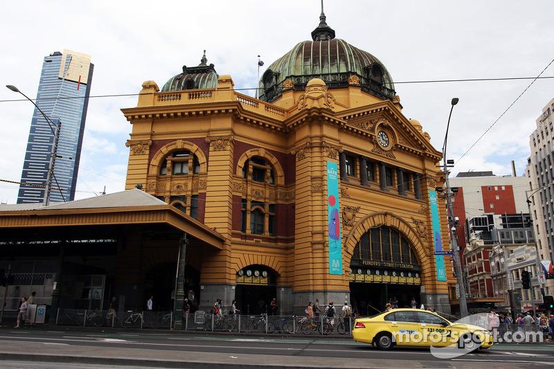 Estação Flinders Street em scenic Melbourne