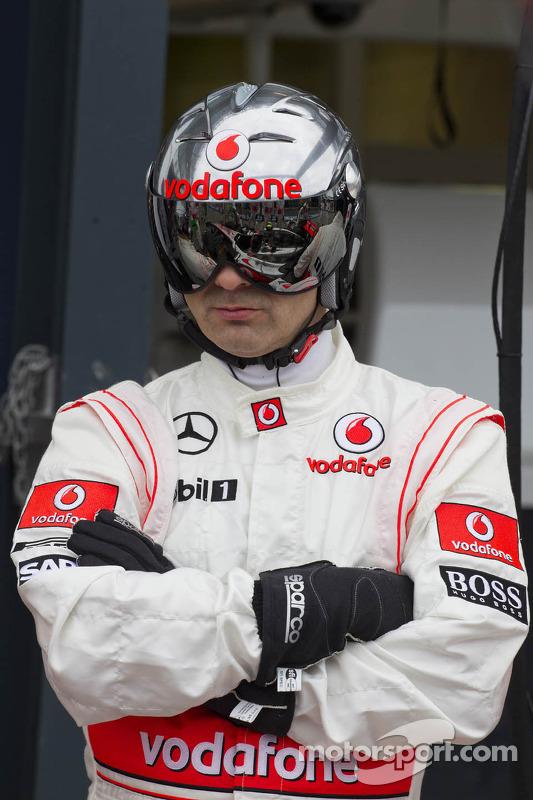 McLaren mecânico treinum pit stop