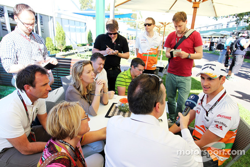 Adrian Sutil, Sahara Force India F1 met de media
