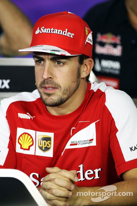 Fernando Alonso, Ferrari na coletiva de imprensa da FIA