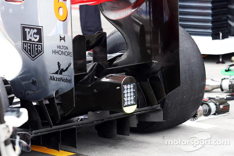 McLaren MP4-28 difusor traseiro