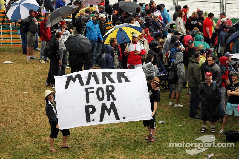 Banner voor Mark Webber, Red Bull Racing