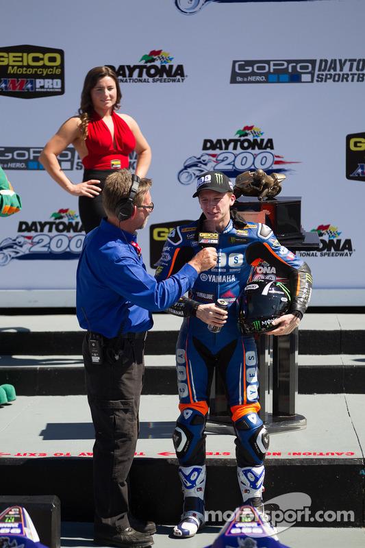 Cameron Beaubier, Yamaha, na pista da vitória